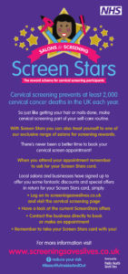 Cervical screening Screen Stars flyer