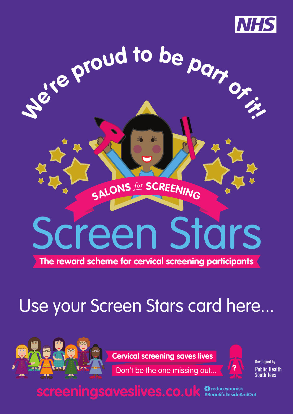 Cervical screening Screen Stars poster for businesses