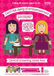 Cervical screening campaign adshel