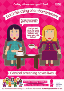 Cervical screening saves lives poster
